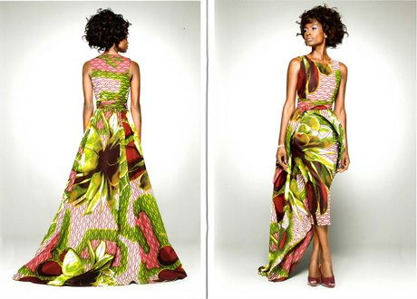 tenue de soirée afro