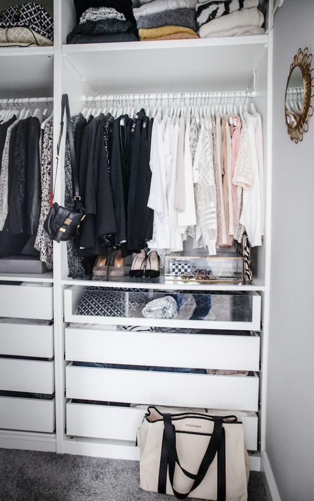 cf98cd37f72 20 Incredible Small Walk-in Closet Ideas & Makeovers | The Happy ...