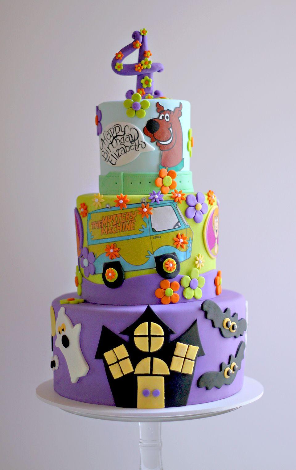 Tremendous Elizabeths Scooby Birthday Cake With Images Scooby Doo Funny Birthday Cards Online Elaedamsfinfo