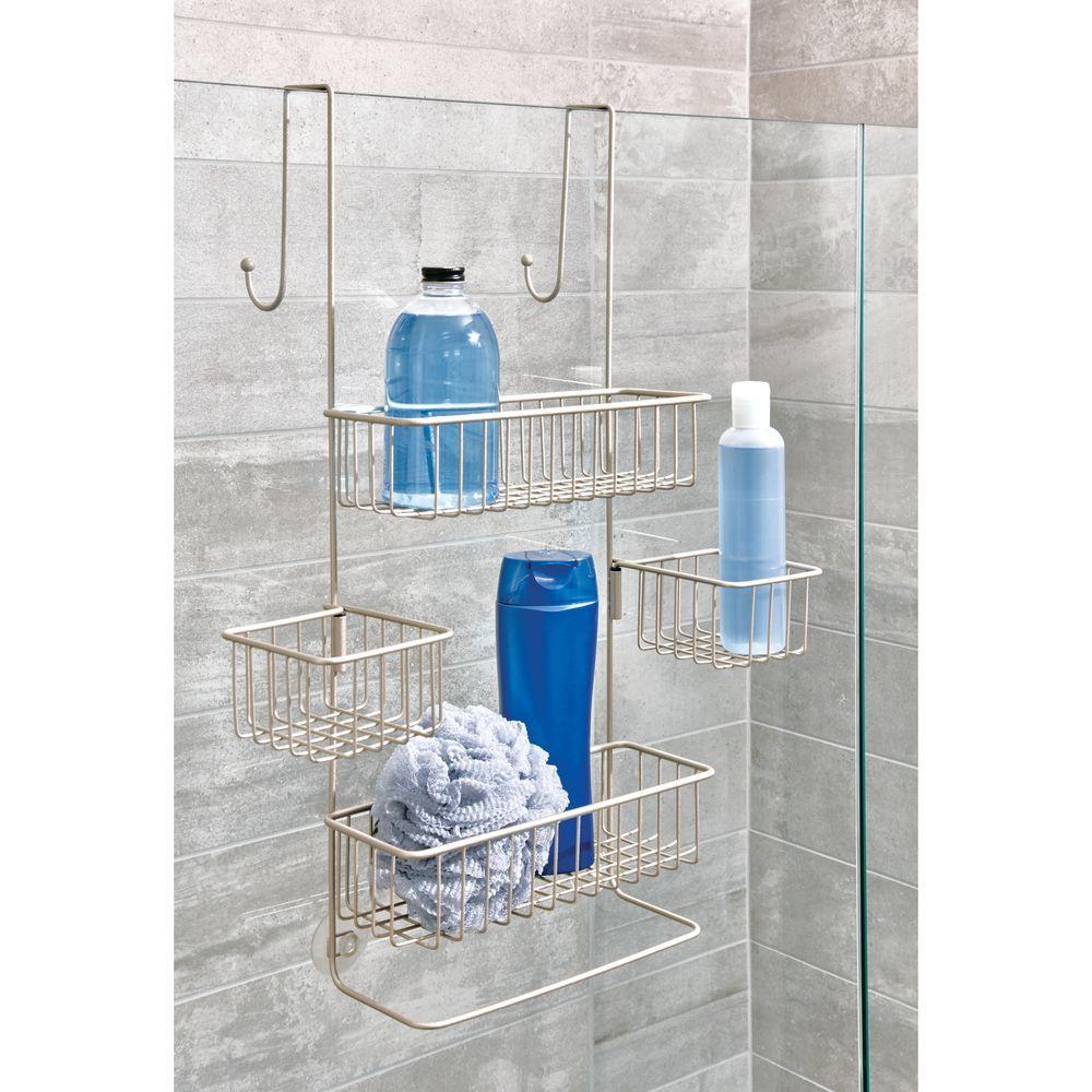 Interdesign Metalo Over Door Shower Caddy Walmart Com Shower Caddy Shower Storage Shower Organization