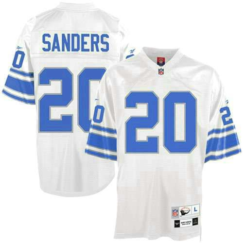 Mitchell And Ness Detroit Lions 20 Barry Sanders White