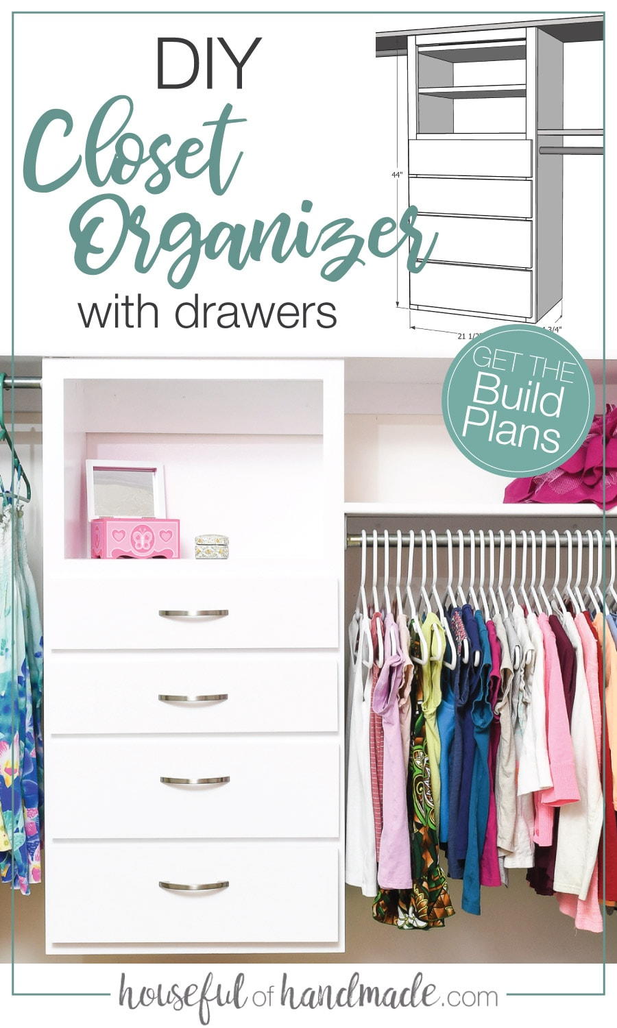 Closet Organizer Plans : closet, organizer, plans, Build, Closet, Organizer, Organization, Plans,, Organizing, Systems