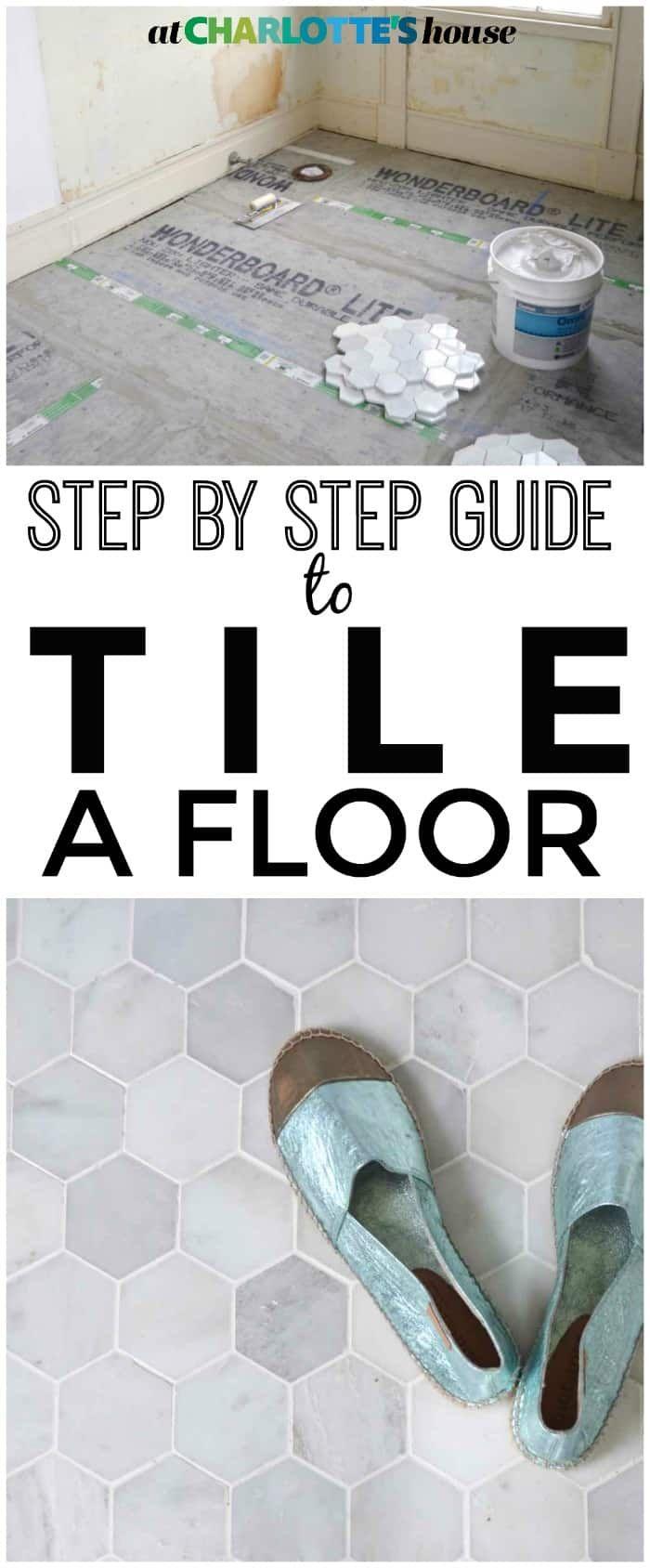 How to Prep and Tile a Floor | Tile floor diy, Diy ...