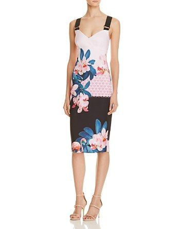 83cf565cfe2930  Ted Baker Orchid Wonderland Bodycon Dress - 100% Exclusive - Bloomingdale s