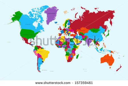 Colorful world map countries with text atlas eps10 vector file colorful world map countries with text atlas eps10 vector file organized in layers for easy gumiabroncs Image collections