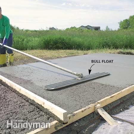 Form and pour a concrete slab concrete slab concrete for Pouring your own concrete driveway