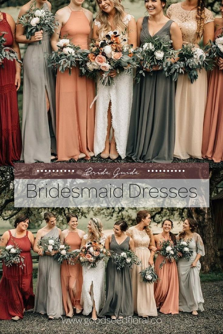 Bridesmaid S Style Guide Fall Bridesmaid Dresses Rustic Bridesmaid Dresses Mismatched Bridesmaid Dresses