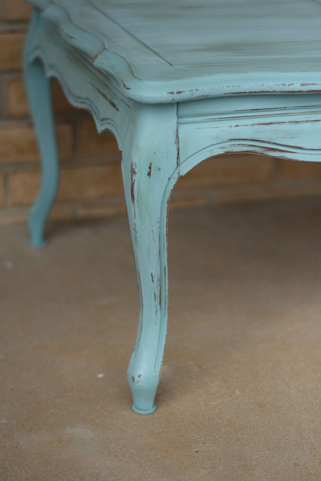 Weathered Provence French Coffee Table Diy Chalk Paint And