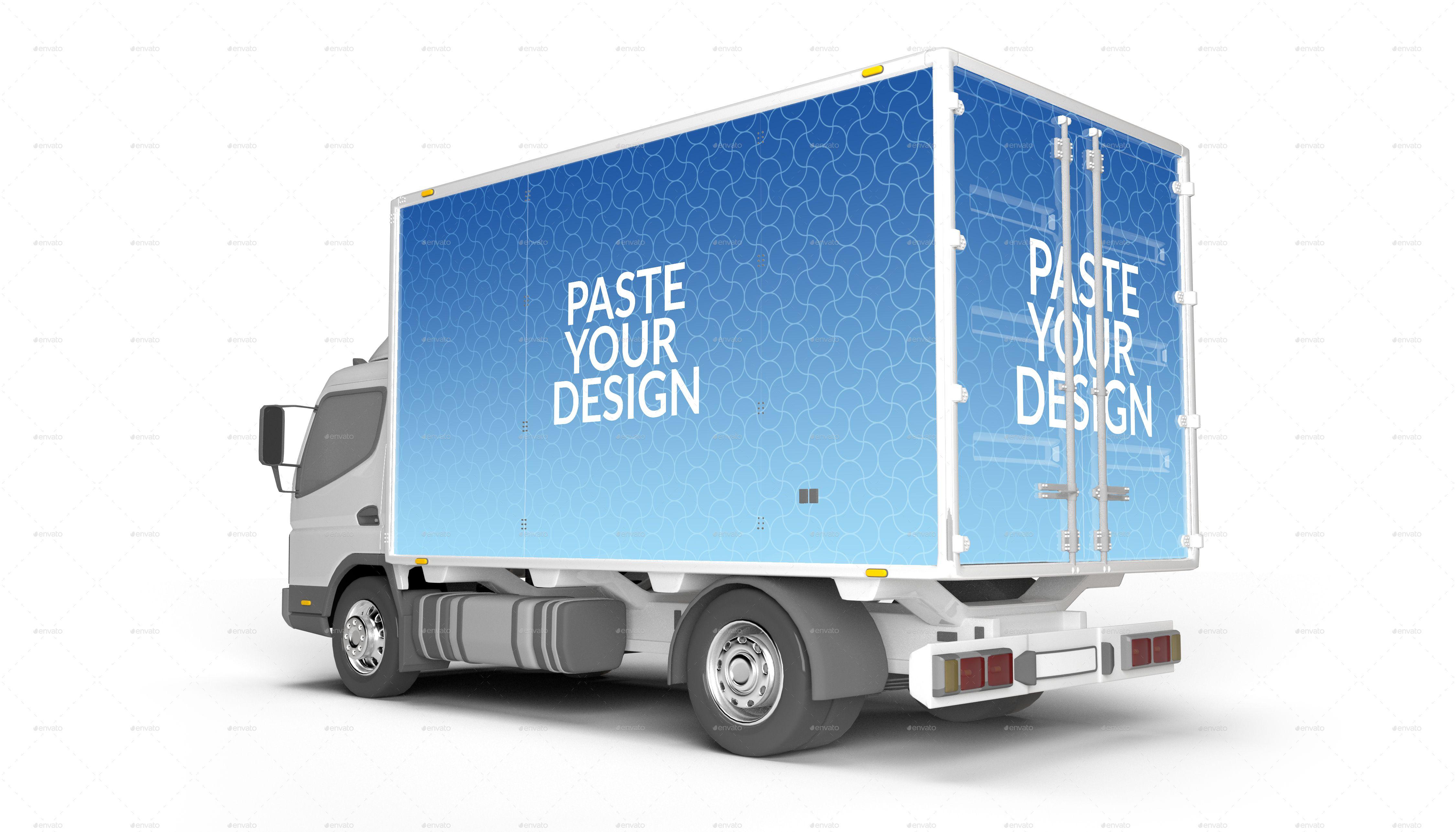Lorry Branding Mock Up Photorealistic Mock Up Brand Branding