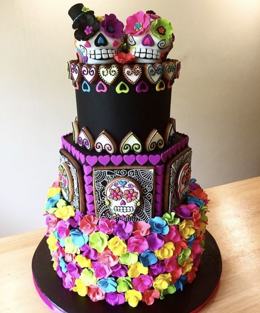 10 Day Of The Dead Cake Ideas Inspiration Day Of The Dead Cake