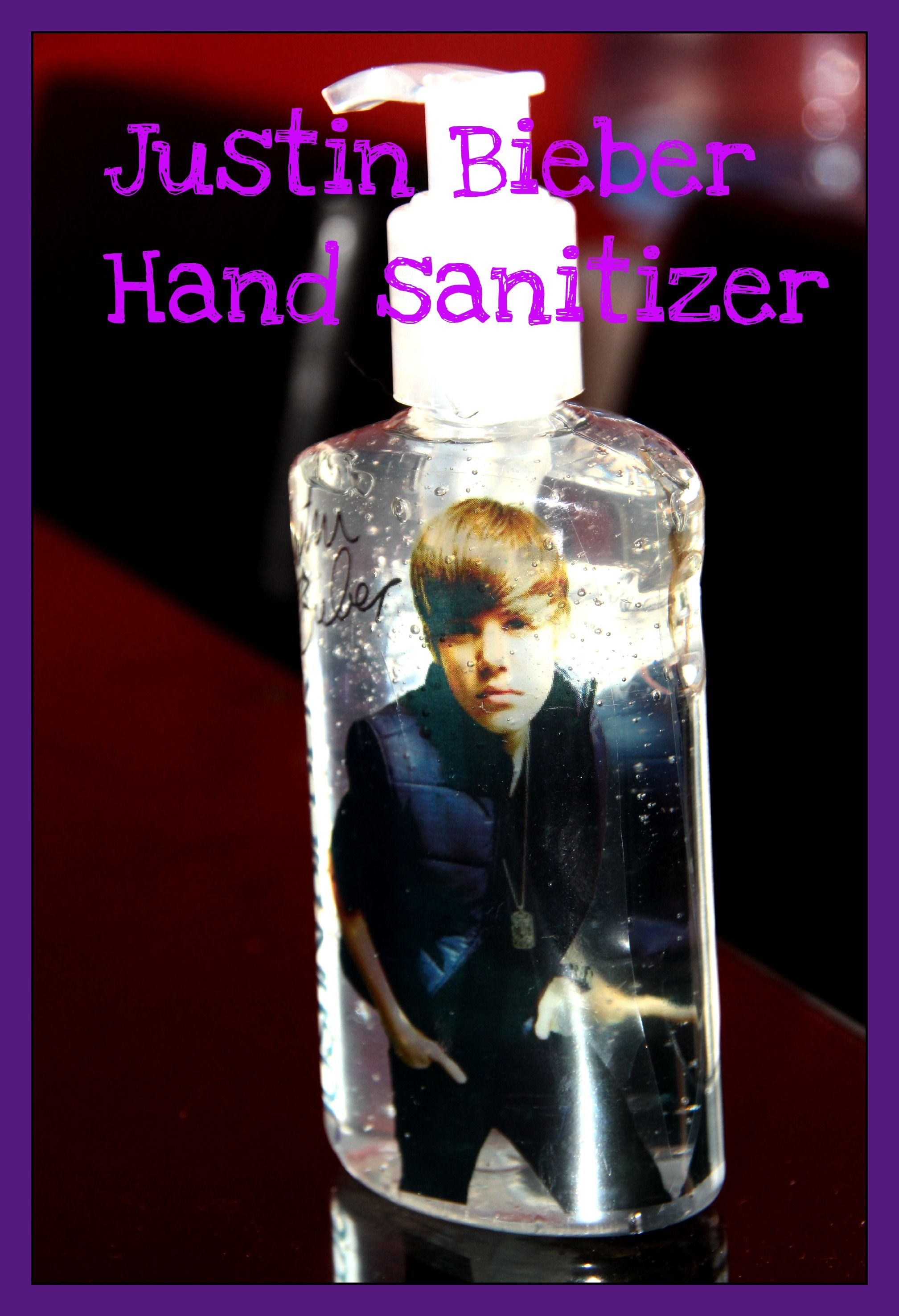 Justin Bieber Hand Sanitizer Bottles Is There Nothing This Kid