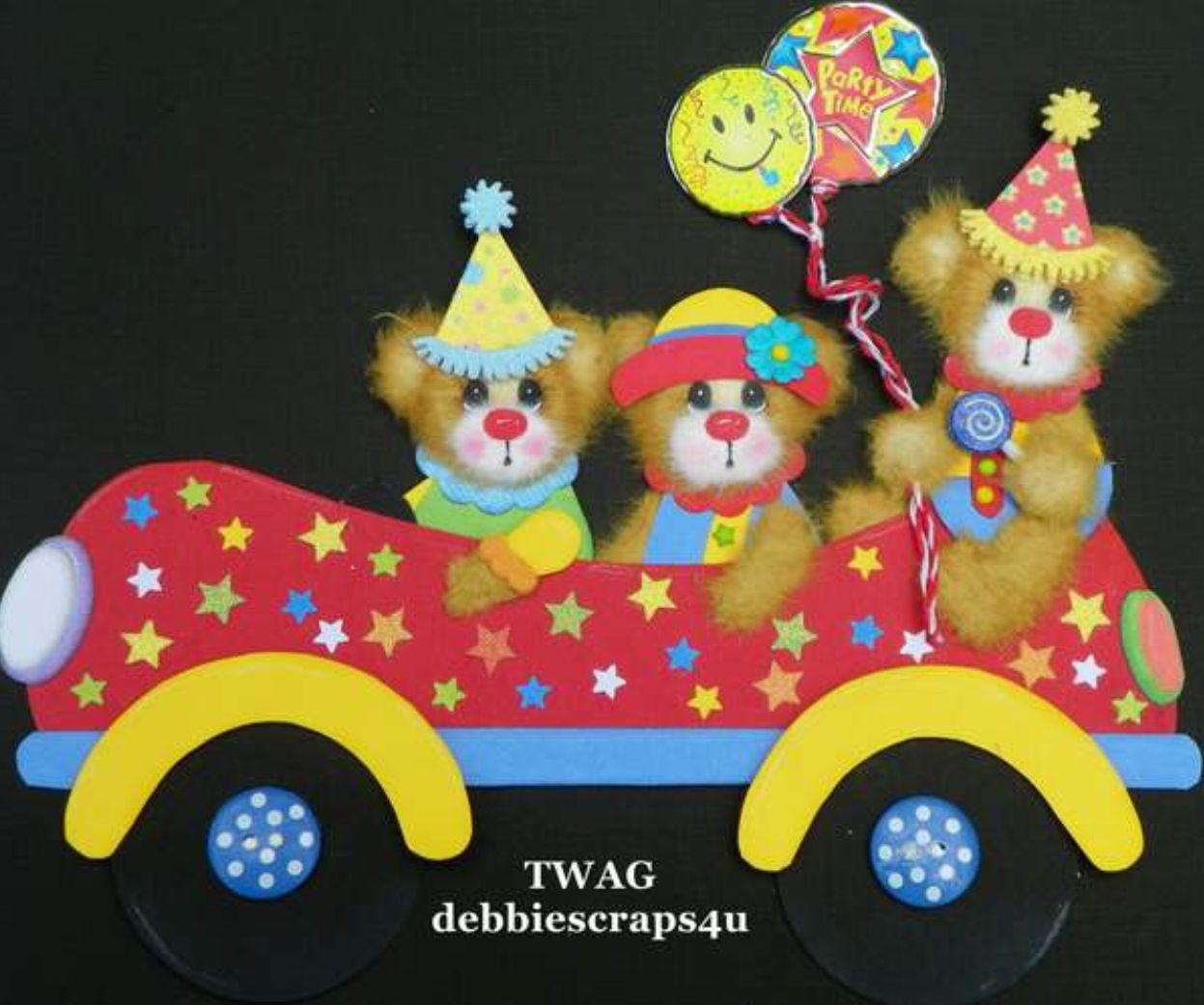 TWAG (debbiescraps4u) Handmade Tear Bear Paper Piece by Debbie.