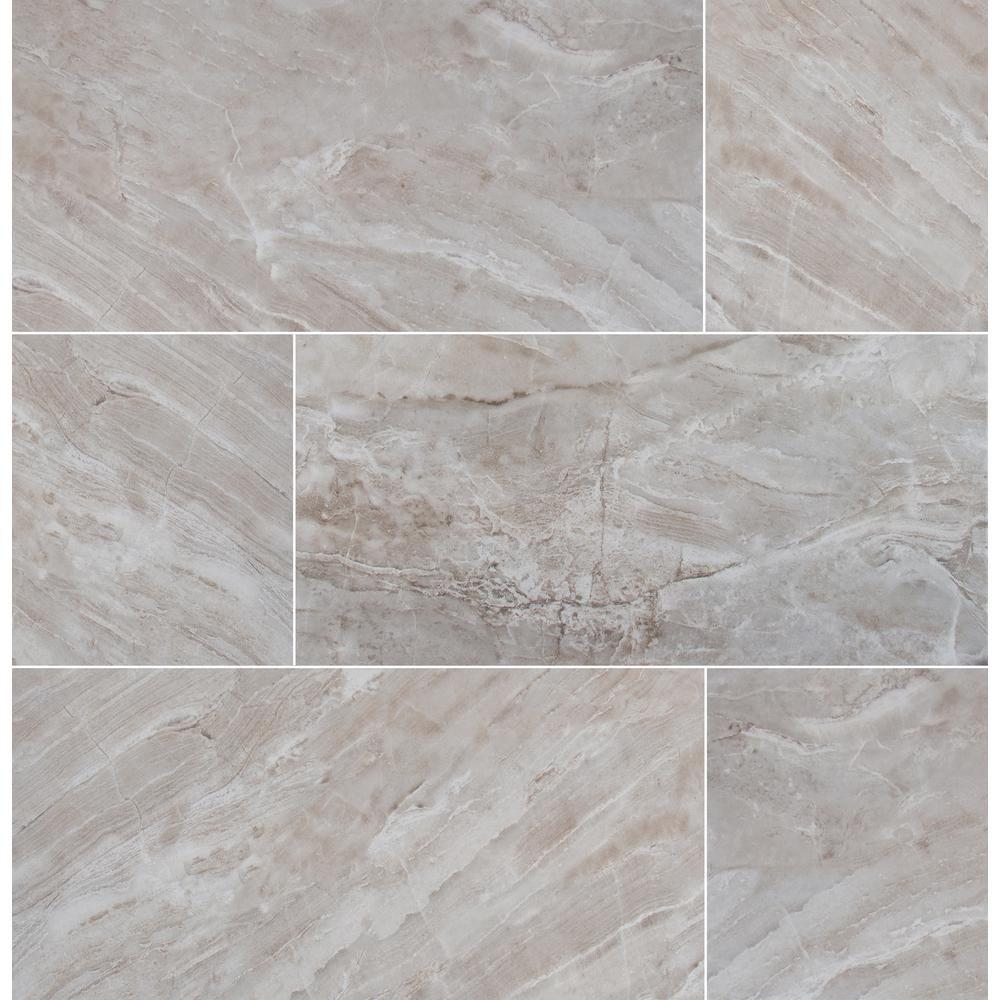 Msi Bergamo Gris 12 In X 24 In Glazed Ceramic Floor And Wall Tile