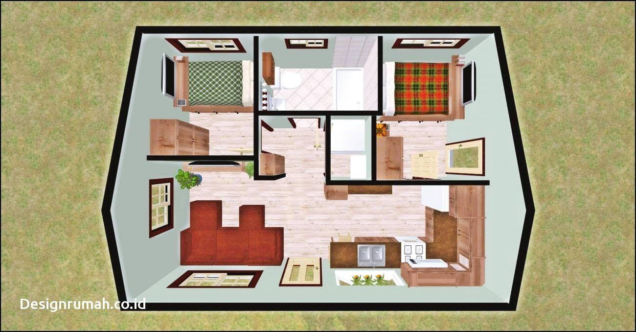 Desain Rumah Sederhana 2 Kamar Mandi Cottage House Designs Minecraft House Designs Tiny House Layout