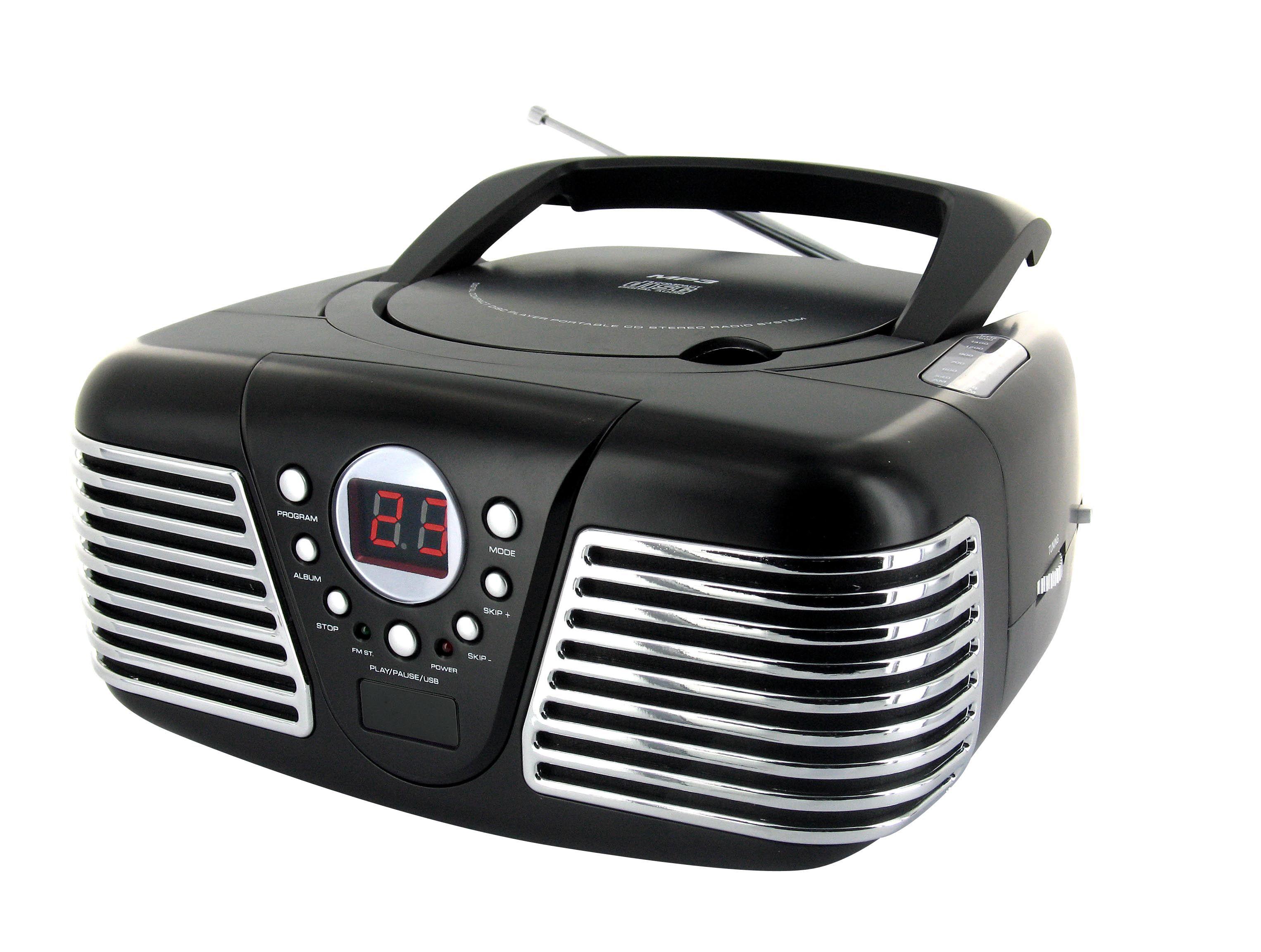 Lettore radio CD portatile CD34 (nero) - Da Bigben Interactive. Ulteriori informazioni qui: http://www.bigbeninteractive.it/produit/produit/id/6369