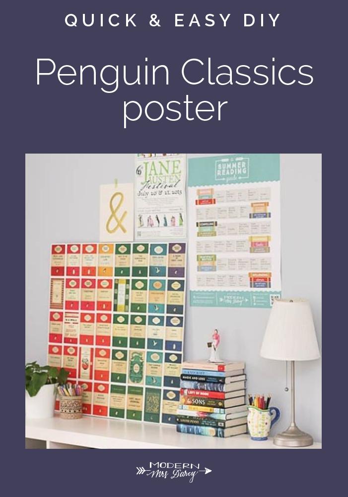 Quick And Easy Penguin Classics Poster Diy Modern Mrs Darcy Wall Art Diy Easy Penguin Classics Poster Diy
