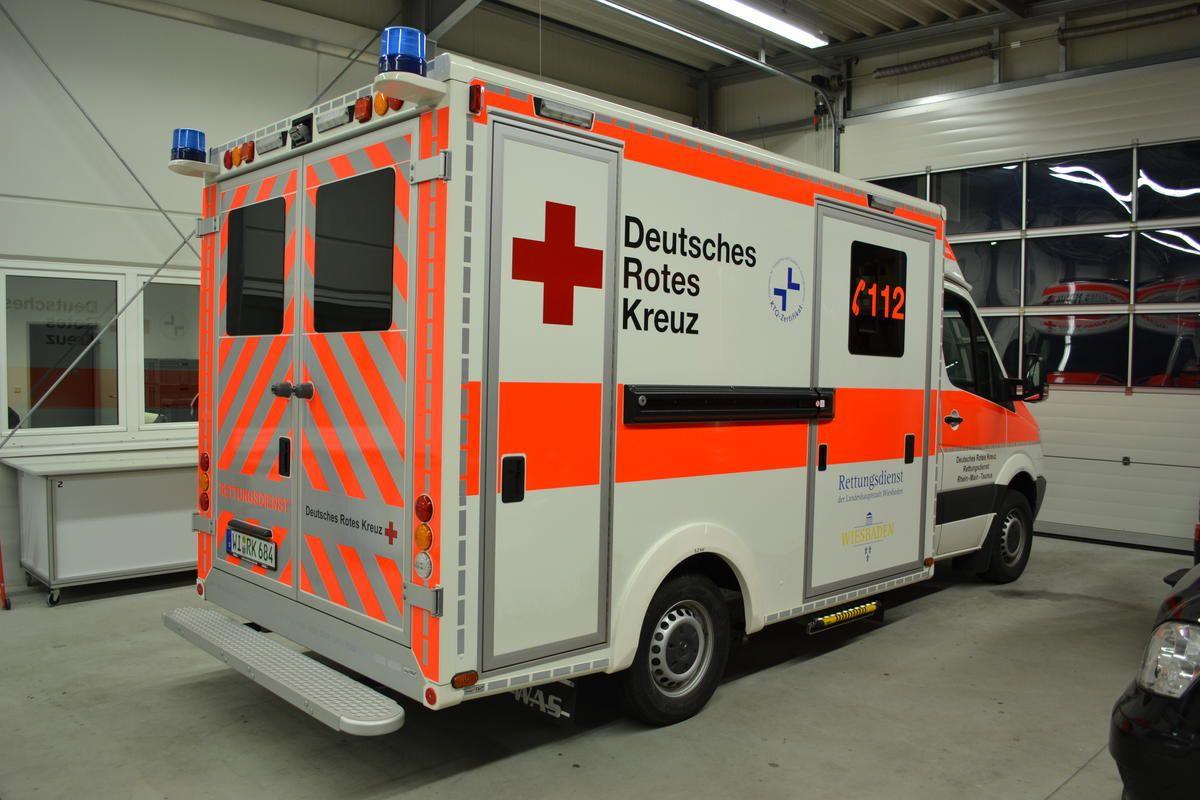 Rtw Von Was Auf Basis Mb Sprinter Fur Das Drk Wiesbaden Feuerwehr Fahrzeuge Rettungsdienst Einsatzfahrzeuge