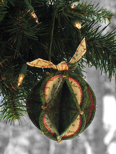 Fold N Stitch Holiday Ornaments Sewing Pattern Pattern And