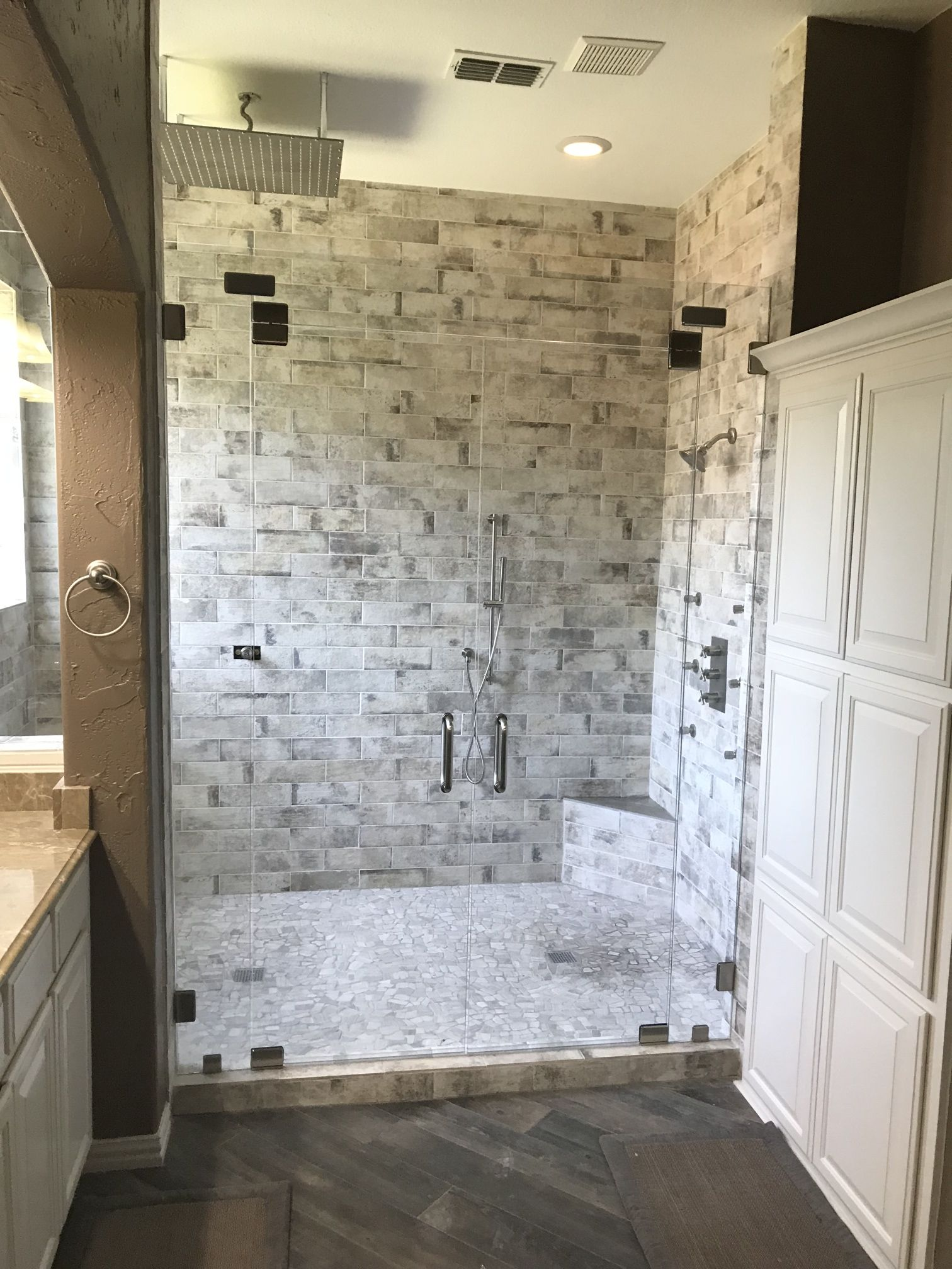 Dallas Bath & Glass, Inc, Frameless Double Doors With Transom,
