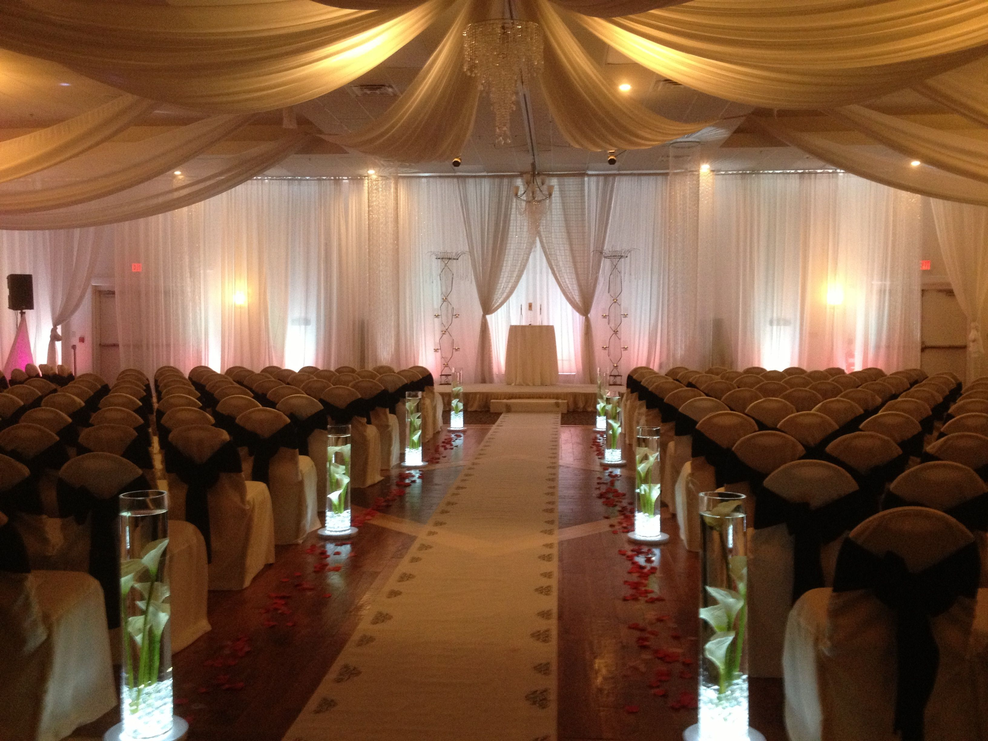 Parachute Ceiling Wedding Decor Rental Ideas Glass Vase Elegant