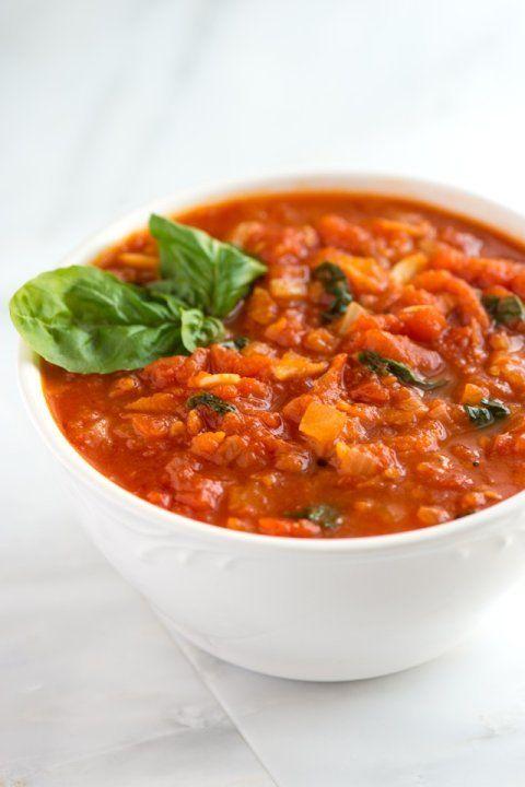 Homemade Marinara Sauce from www.inspiredtaste.net #recipe #sauce