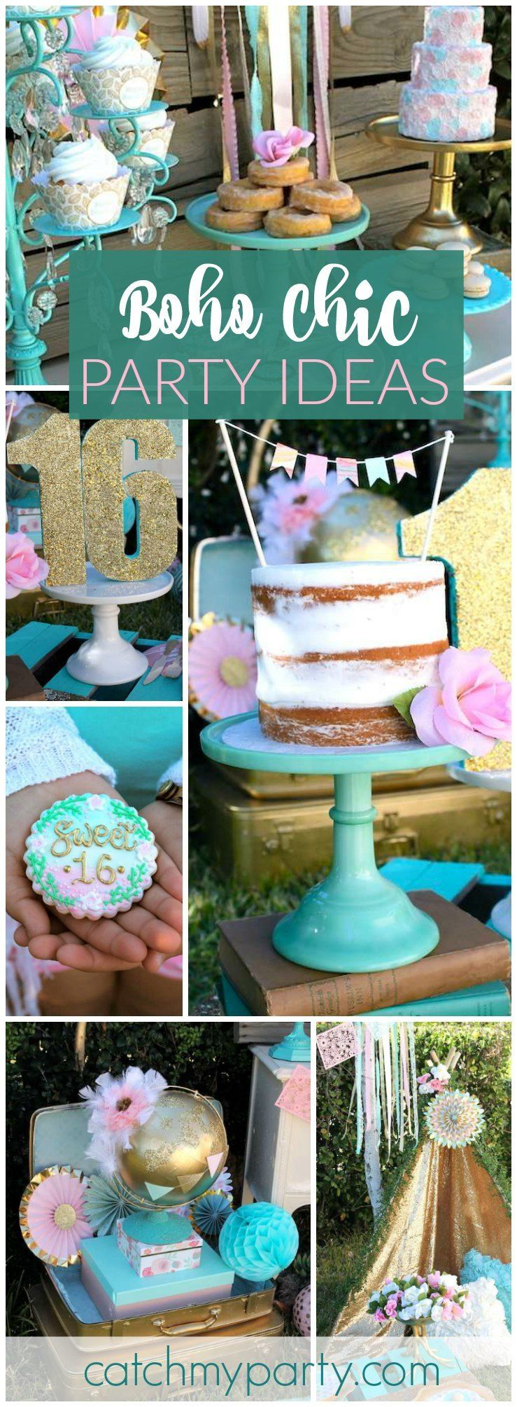 Such a gorgeous bohemian sweet 16 birthday party see more for 16th birthday party decoration ideas