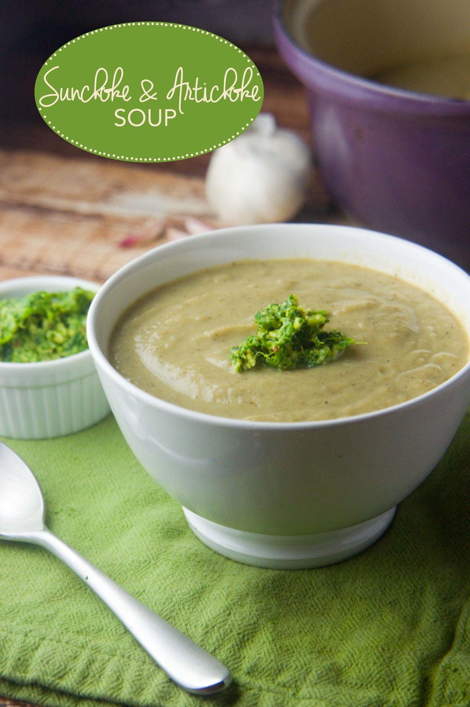 Sunchoke & Artichoke Soup — Foraged Dish