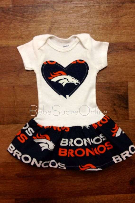 Denver Broncos Girls Ruffle Bodysuit by BebeSucreOnline on Etsy ... 111518959