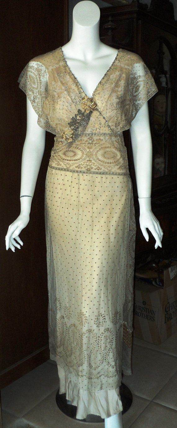 Titanic era wedding gown edwardian bellasoiree by bellasoiree