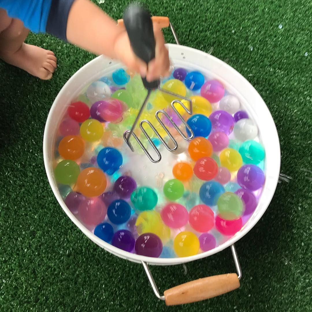 Heres an action shot of our messy morning mashing our giant orbeez  It got very messy  ebayau kmartaus