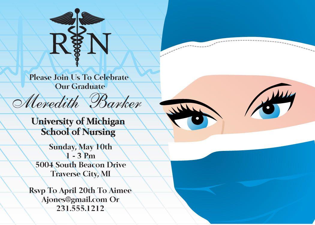 Nursing Graduation Announcement | Nursing graduation and Party ...