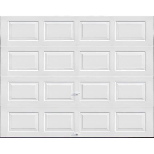 Ideal Door 4 Star 9 Ft X 7 Ft White Insulated Garage Door 319 Single Garage Door Garage Doors Garage Door Insulation