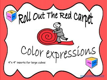 Learning Cube Inserts Roll Out The Red Carpet Pictures To Draw Learning Writing