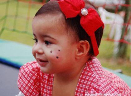 Bebe Maquiado Para Festa Junina Maquiagem Infantil Party E Makeup