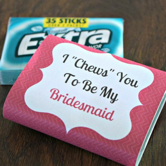Looking for a fun way to ask your friends to be your bridesmaids ...