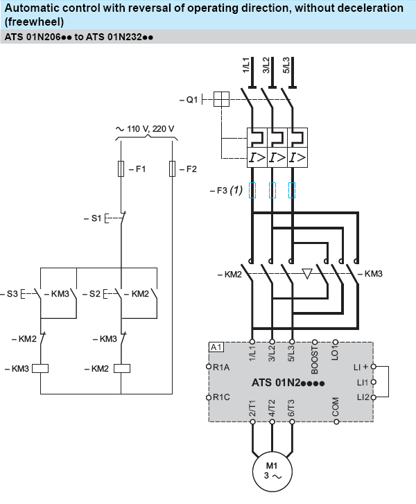 forward and reverse motor starter wiring diagram | elec eng world