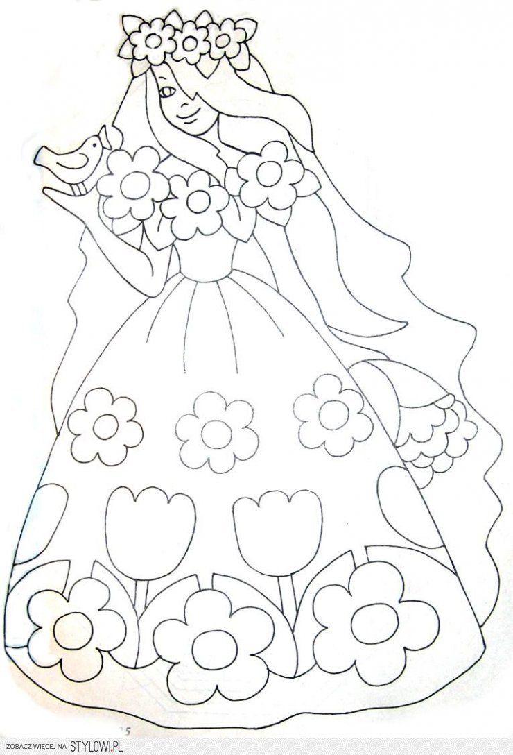 Znalezione Obrazy Dla Zapytania Pani Wiosna Cute Coloring Pages Coloring Pages Coloring Books