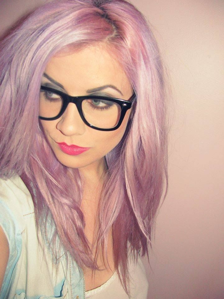 Alli Archambault Is Geekchic In Pastelized Purplehaze And Cottoncandypink 3 3 Hair Color Pastel Rainbow Hair Color Dyed Hair