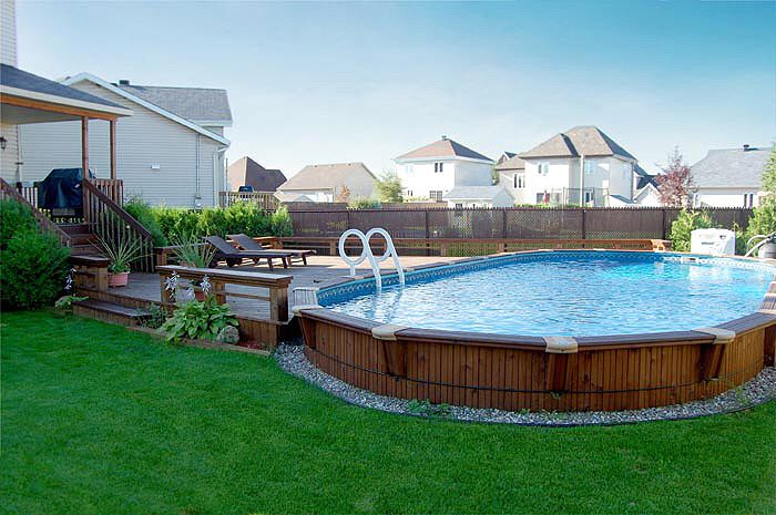 Pin by nancy eickhoff on outdoor in 2019 wooden pool - Wood above ground pool ...