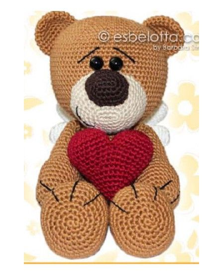 ours grand coeur crochet - Ours Coeur