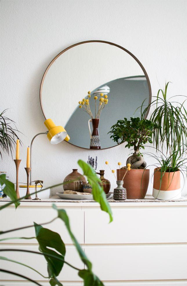 Urban jungle dressoir in de slaapkamer
