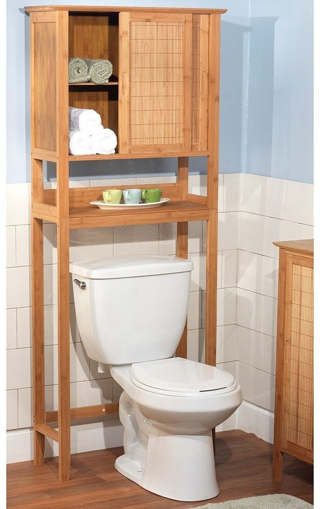 Bathroom Cabinet Toilet Standing Shelves Bamboo E Saver Storage Organizer Simpleliving Bathroomfurniture Bathroomorganizer