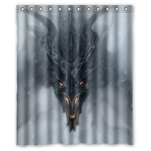 Amazon Skyrim Dragon Alduin Fog Art Home Textile Bathroom Decoration Luxurious Cozy Lovely