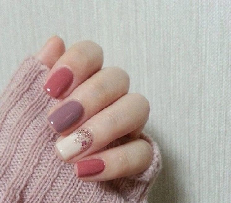 Pin by Agnes Ku on Nail arts | Pinterest | Manicure, Pretty nail ...
