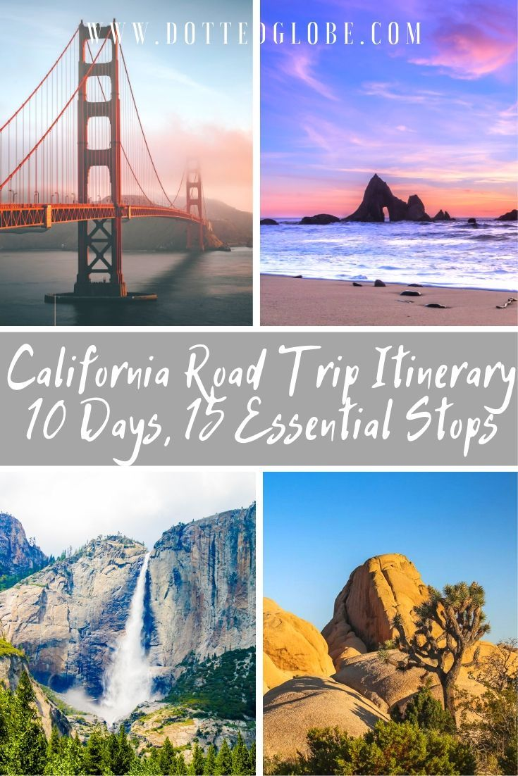 10 Days California Road Trip Itinerary: From the Pacific to the Redwoods! #westcoastroadtrip