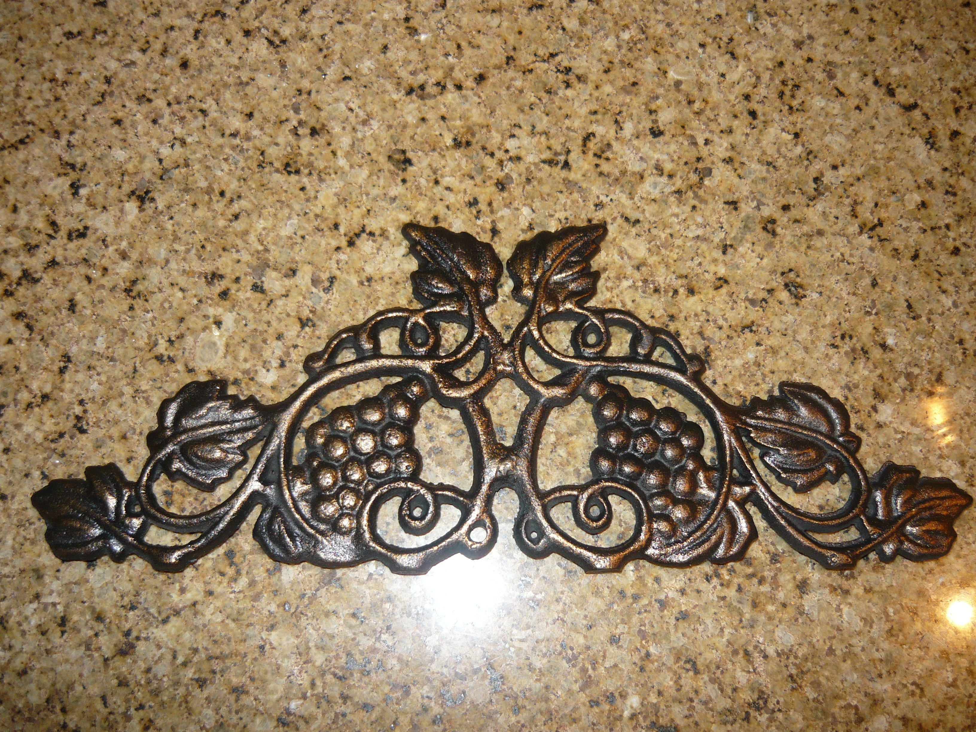 Tuscan old world drake design medium berry kitchen canisters set of 3 - Iron Grapevine Topper Swag Valance For Kitchen Old World Tuscan French