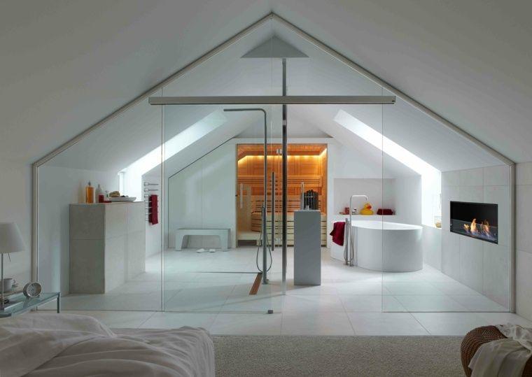Chambre avec salle de bain  fusion d\u0027espaces harmonieuse Lofts