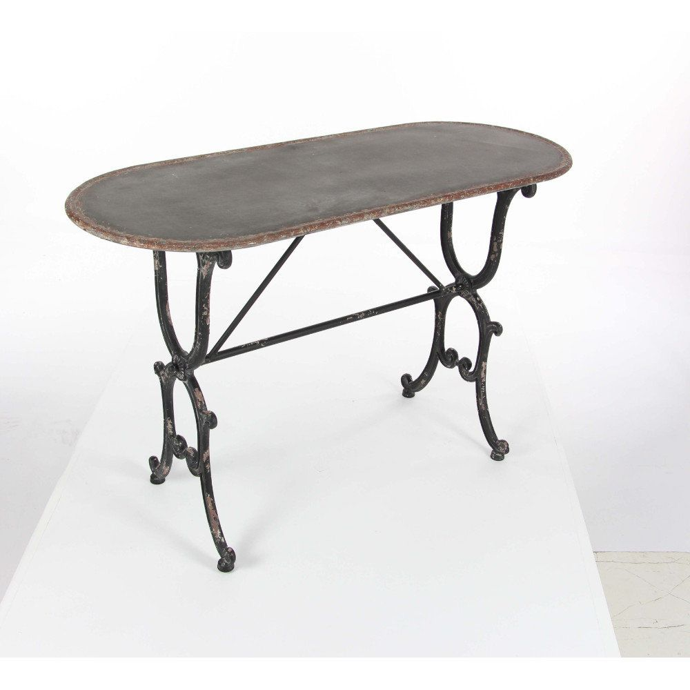 Annsville antiqued metal console table