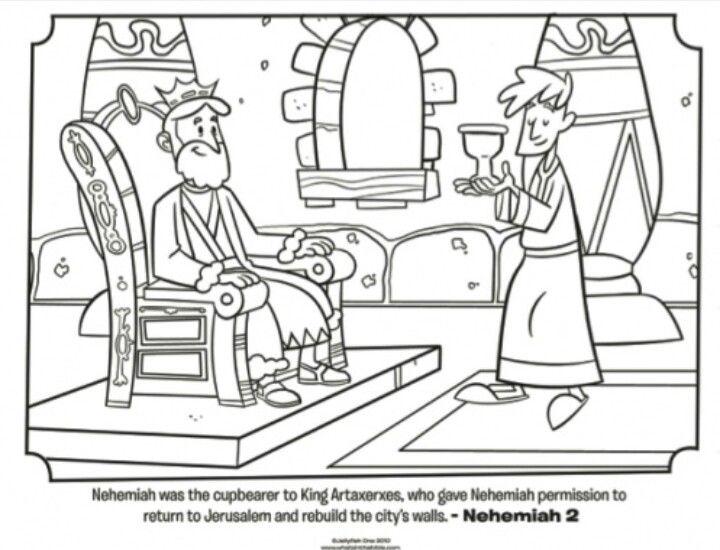 Nehemiah coloring paper Bible Nehemiah Pinterest Sunday