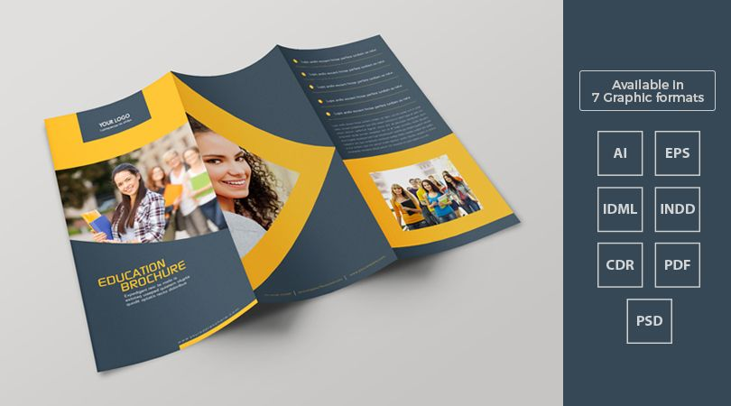 tri fold education brochure template design in ai pdf indd idml formats feature image